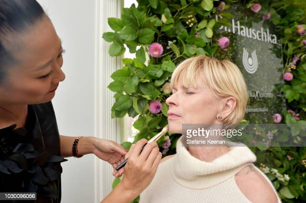 A guest attends German Films X Dr Hauschka Reception at the 43rd Toronto International Film Festival on September 9 2018 in Toronto Canada