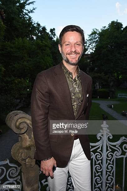 Guest attends GQ Party for Jim Moore during Milan Menswear Fashion Week Spring/Summer 2016 at Casa Degli Atellani on June 20 2015 in Milan Italy