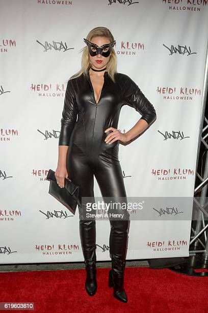 A guest attends Heidi Klum's 17th Annual Halloween Party at Vandal on October 31 2016 in New York City