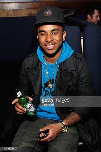 A guest attends Heineken Presents Side by Side Fan QA on April 26 2012 in New York City