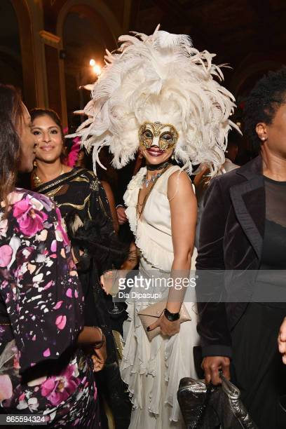A guest attends HSA Masquerade Ball on October 23 2017 at The Plaza Hotel in New York City