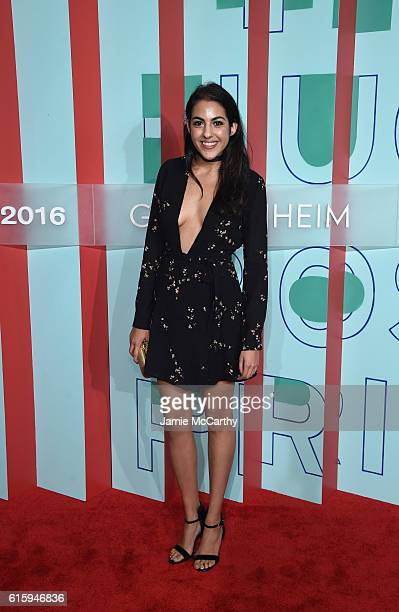 Guest attends HUGO BOSS and GUGGENHEIM celebration of the 20th Anniversary of the HUGO BOSS Prize at Solomon R Guggenheim Museum on October 20 2016...