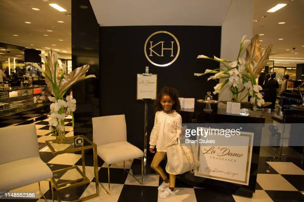Guest attends La'Dame Fragrance Popup at Bloomingdales on May 11 2019 in Tysons Corner Virginia