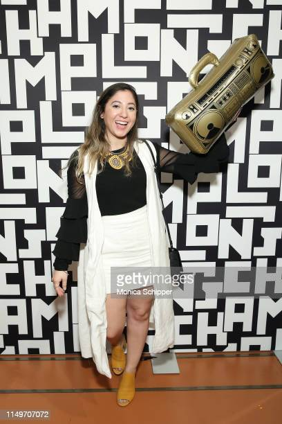 Guest attends Longchamp launches LGP at Longchamp Soho on May 16, 2019 in New York City.