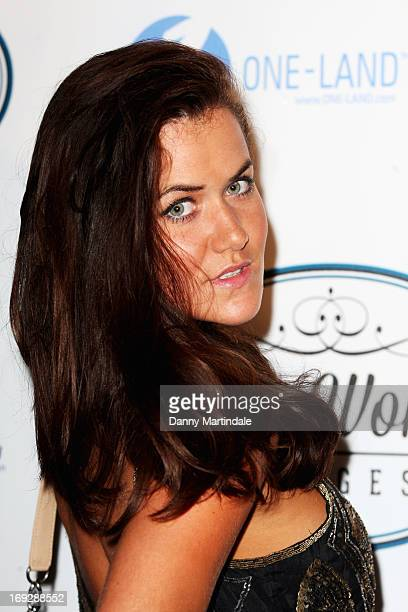 A guest attends Lova World Images party during the 66th Annual Cannes Film Festival at Baoli Beach on May 22 2013 in Cannes France
