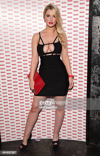 Guest attends Nuts 10th Birthday Party at Aura on January 23 2014 in London England