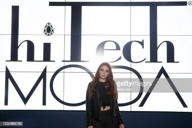 A guest attends NYFW Powered By hiTechMODA on February 08 2020 in New York City