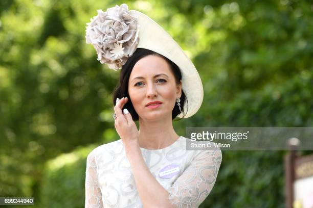 A guest attends Royal Ascot 2017 at Ascot Racecourse on June 21 2017 in Ascot England