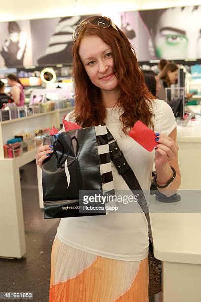 Guest attends Sephora VIB Rouge Spring Social at Sephora Santa Monica on March 30 2014 in Santa Monica California