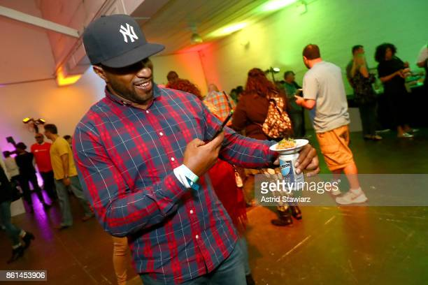 Guest attends Street Eats hosted by Ghetto Gastro at Industria on October 14 2017 in New York City