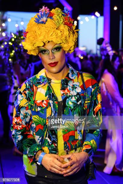 Guest attends the 2018 High Line Hat Party at the The High Line on June 14 2018 in New York City