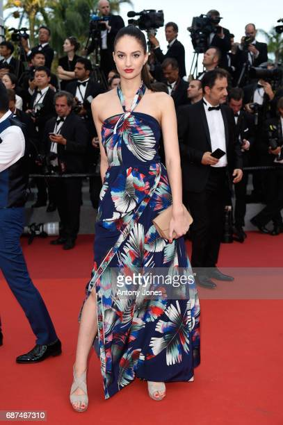A guest attends the 70th Anniversary of the 70th annual Cannes Film Festival at Palais des Festivals on May 23 2017 in Cannes France