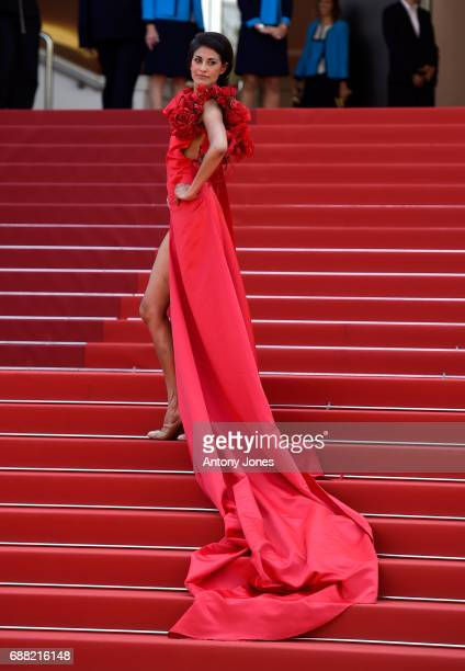 A guest attends the 'A Gentle Creature ' screening during the 70th annual Cannes Film Festival at Palais des Festivals on May 25 2017 in Cannes France