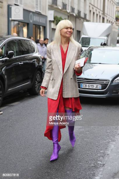 A guest attends the Af Vandevorst Haute Couture fashion show on July 2 2017 in Paris France