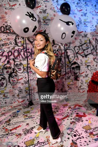 A guest attends the Alber Elbaz X LeSportsac New York Fashion Week Party at Gallery I at Spring Studios on September 5 2018 in New York City