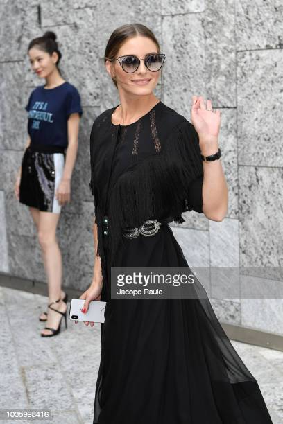 A guest attends the Alberta Ferretti show during Milan Fashion Week Spring/Summer 2019 on September 19 2018 in Milan Italy