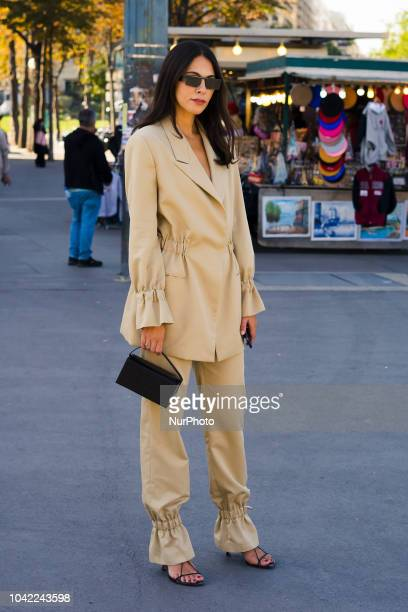 Guest attends the Ann Demeulemeester show on September 27 2018 in Paris France during Paris Fashion Week Womenswear Spring/Summer 2019 Day Four