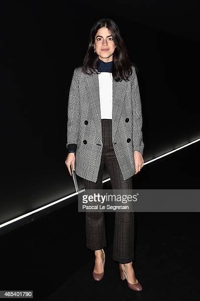 Guest attends the Balenciaga show as part of the Paris Fashion Week Womenswear Fall/Winter 2015/2016 on March 6 2015 in Paris France