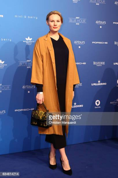 A guest attends the Blue Hour Reception hosted by ARD during the 67th Berlinale International Film Festival Berlin on February 10 2017 in Berlin...