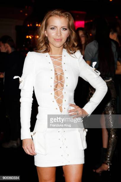 A guest attends the Bunte New Faces Night at Grace Hotel Zoo on January 15 2018 in Berlin Germany