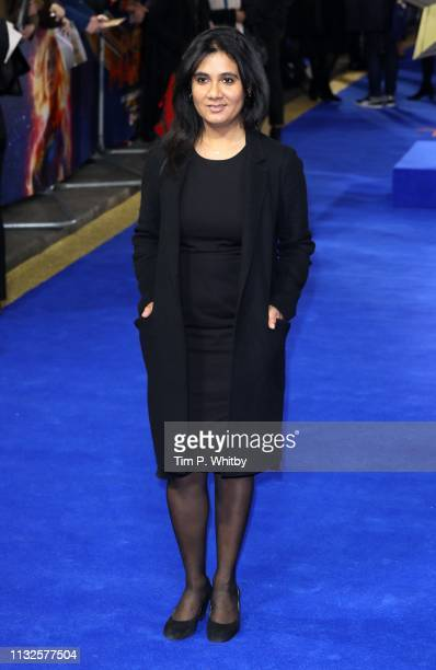 A guest attends the Captain Marvel European Gala Premiere held at The Curzon Mayfair on February 27 2019 in London England