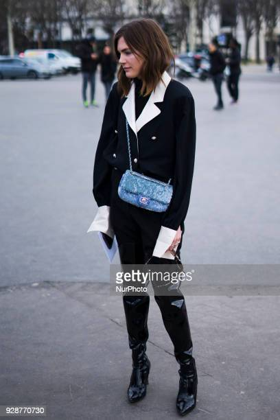 828ac3a7a Guest attends the Chanel show as part of the Paris Fashion Week Womenswear  Fall Winter