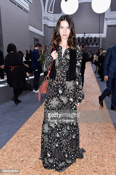 A guest attends the Chloe show as part of the Paris Fashion Week Womenswear Spring/Summer 2016 on October 1 2015 in Paris France
