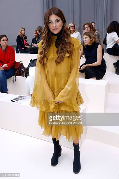 A guest attends the Chloe show as part of the Paris Fashion Week Womenswear Spring/Summer 2017 on September 29 2016 in Paris France