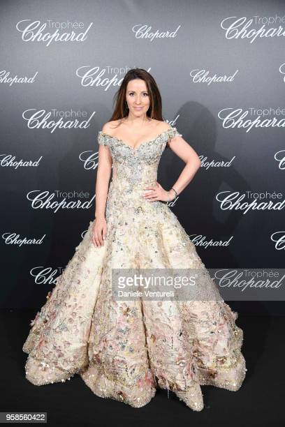 A guest attends the Chopard Trophy during the 71st annual Cannes Film Festival at Martinez Hotel on May 14 2018 in Cannes France