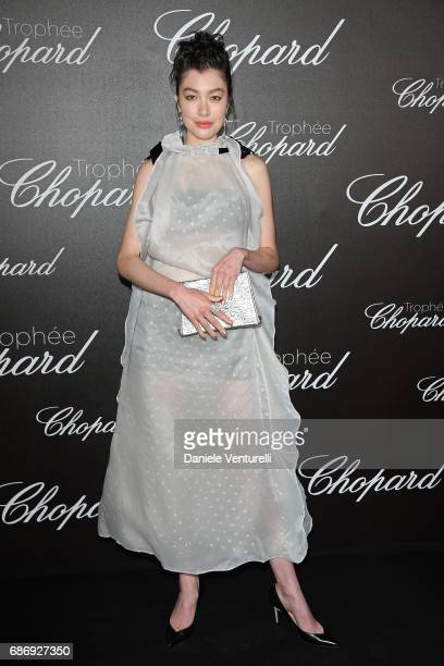 A guest attends the Chopard Trophy photocall at Hotel Martinez on May 22 2017 in Cannes France