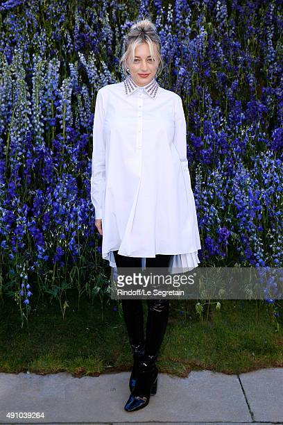 Guest attends the Christian Dior show as part of the Paris Fashion Week Womenswear Spring/Summer 2016 Held at Cour Carre du Louvre on October 2 2015...