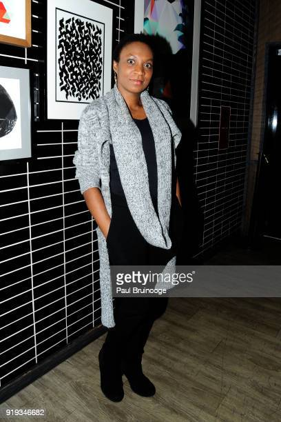 Guest attends The Cinema Society with Ravage Wines Synchrony host the after party for Marvel Studios' 'Black Panther' at The Skylark on February 13...