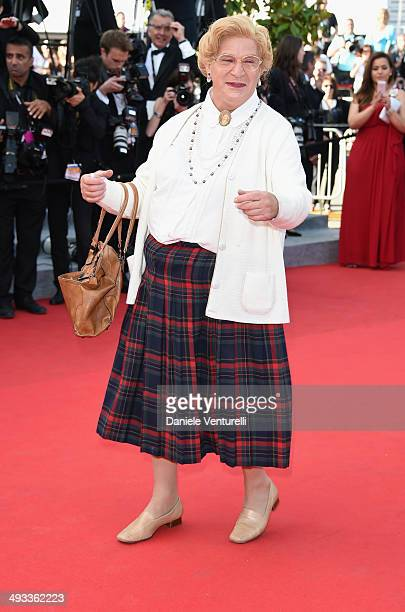 A guest attends the 'Clouds Of Sils Maria' Premiere during the 67th Annual Cannes Film Festival on May 23 2014 in Cannes France