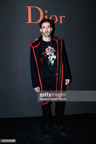 Guest attends the Dior Homme Menswear Fall/Winter 20172018 show as part of Paris Fashion Week on January 21 2017 in Paris France