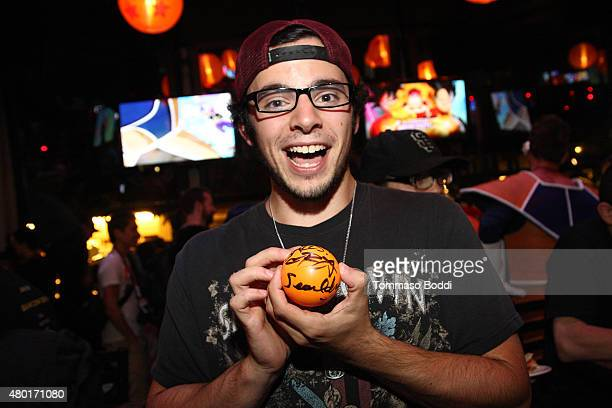 Guest attends the Dragon Ball Z Resurrection 'F' San Diego Comic Con opening night VIP party held at Whiskey Girl on July 9 2015 in San Diego...