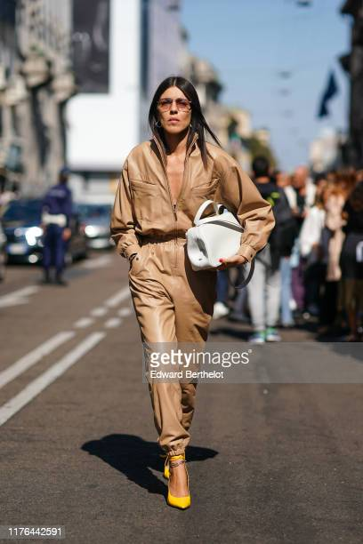 Guest attends the Ermanno Scervino show at Milan Fashion Week Spring Summer 2020 on September 21, 2019 in Milan, Italy.