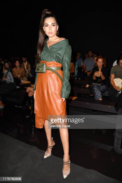 A guest attends the Fendi fashion show during the Milan Fashion Week Spring/Summer 2020 on September 19 2019 in Milan Italy