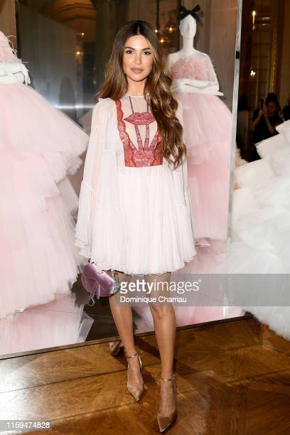 Guest attends the Giambattista Valli aute Couture Fall/Winter 2019 2020 show as part of Paris Fashion Week on July 01, 2019 in Paris, France.