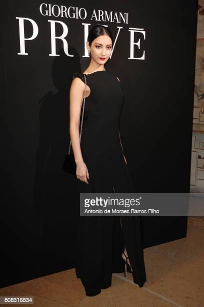 2ff813a70e9 Guest attends the Giorgio Armani Prive Haute Couture Fall Winter 20172018  show as part of