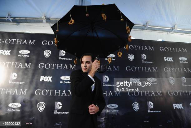 A guest attends the 'Gotham' series premiere at The New York Public Library on September 15 2014 in New York City