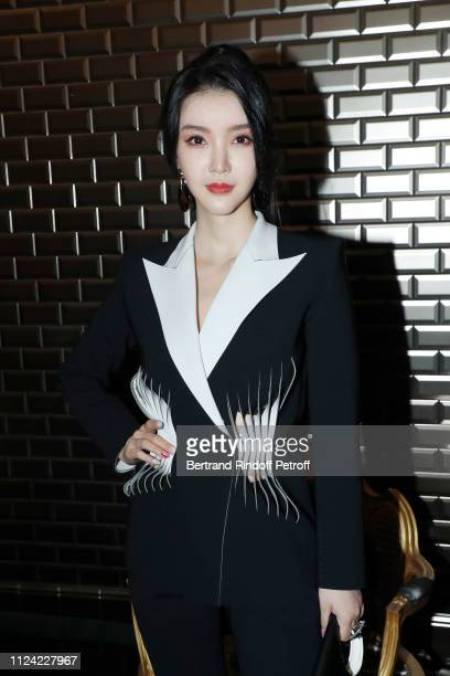 A guest attends the JeanPaul Gaultier Haute Couture Spring Summer 2019 show as part of Paris Fashion Week on January 23 2019 in Paris France