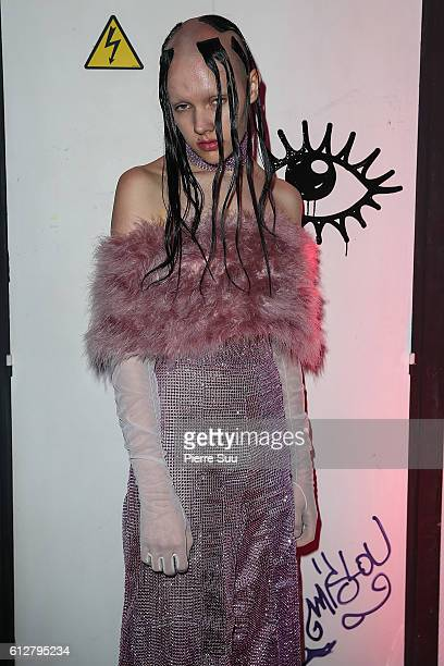 Guest attends the Kenzo X Mac aftershow as part of the Paris Fashion Week Womenswear Spring/Summer 2017 at Le Consulat on October 4 2016 in Paris...