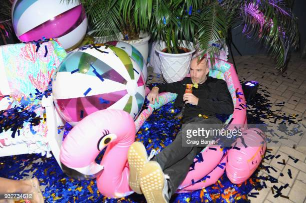 A guest attends the Launch Celebration of the Pottery Barn Pottery Barn Kids PBteen and Lilly Pulitzer Exclusive Collection on March 15 2018 in New...
