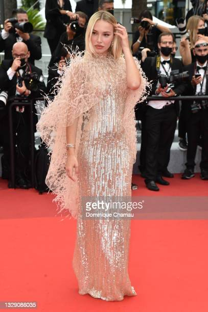 """Guest attends the """"Les Intranquilles """" screening during the 74th annual Cannes Film Festival on July 16, 2021 in Cannes, France."""