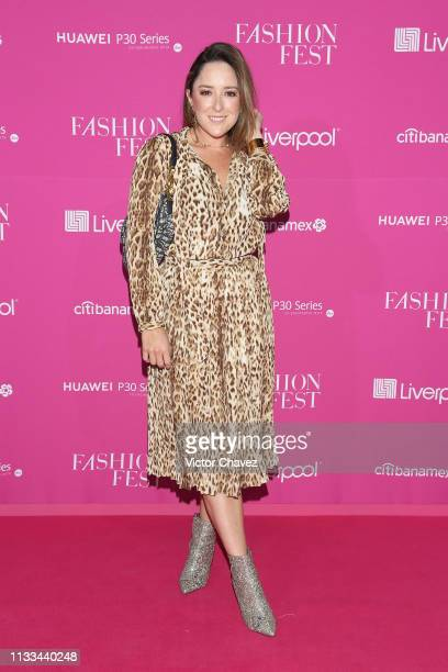 Guest attends the Liverpool Fashion Fest Spring/Summer 2019 at Quarry Studios on March 28 2019 in Mexico City Mexico