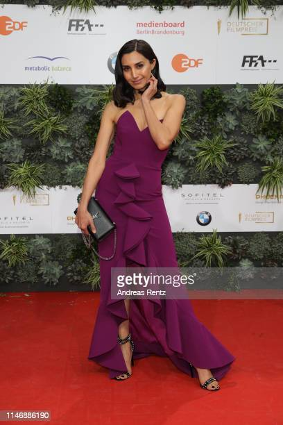 Guest attends the Lola - German Film Award red carpet at Palais am Funkturm on May 03, 2019 in Berlin, Germany.