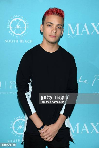 A guest attends the Maxim December Miami Issue Party Presented by blu on December 8 2017 in Miami Beach Florida