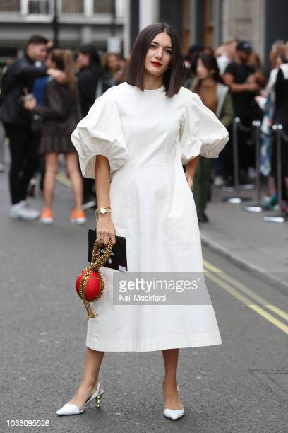 Guest attends the Nicopanda show at My Beautiful City show space during London Fashion Week September 2018 on September 14 2018 in London England
