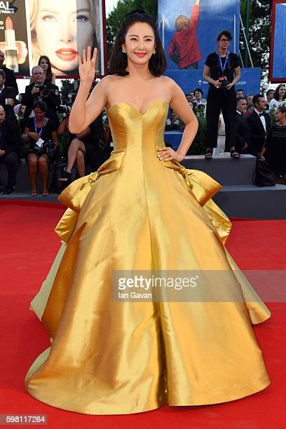 A guest attends the opening ceremony and premiere of 'La La Land' during the 73rd Venice Film Festival at Sala Grande on August 31 2016 in Venice...