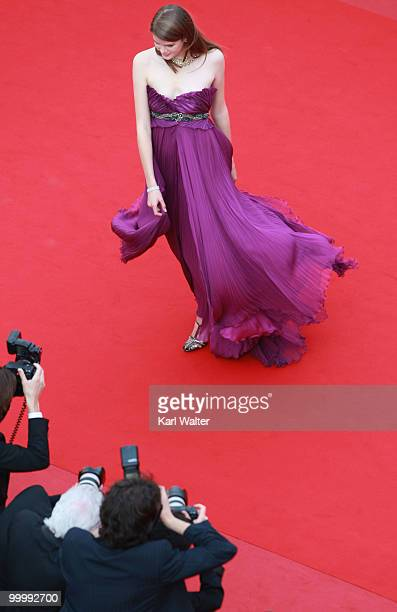 A guest attends the 'Poetry' Premiere at the Palais des Festivals during the 63rd Annual Cannes Film Festival on May 19 2010 in Cannes France